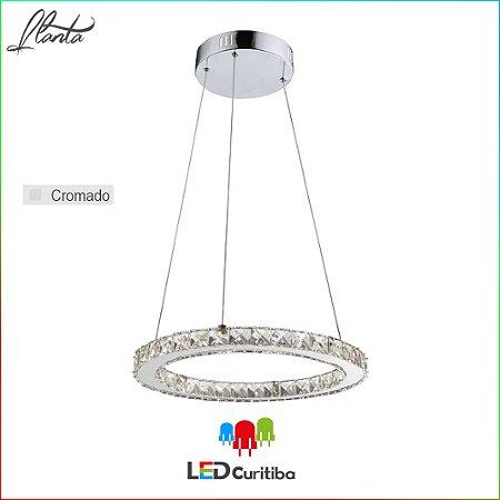 Pendente Llanta LED 16W 1120lm 4000K - Cromado