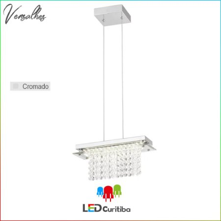 Pendente Versalhes LED 12W-840lm-4000K - Cromado