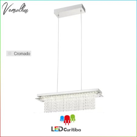 Pendente Versalhes LED 18W 1260lm 4000K  - Cromado