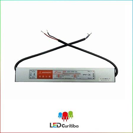 Fonte Blindada Automática Para Led Ip67 15w 12v 1,25a