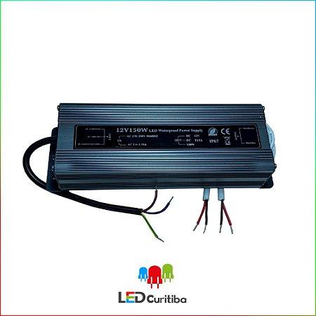 Fonte Blindada Automática P/ Led Ip67 150w 12v 12,5a Bivolt