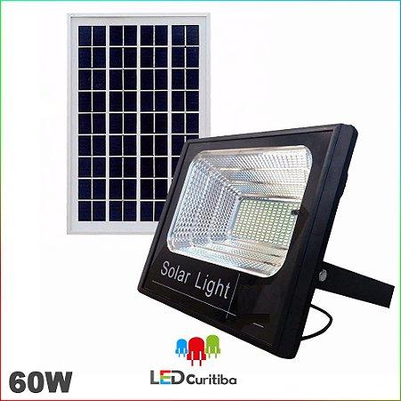 Refletor Holofote de Led Solar com Bateria IP66 com painel carregador