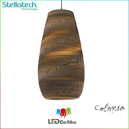 PENDENTE STELLA KRAFT COLMEIA (65cm) - 1xE27 127v / 220v - 350x650x1200x100 (mm)