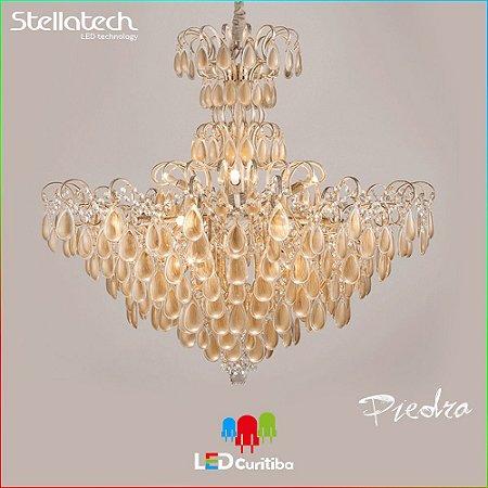 LUSTRE PENDENTE STELLA PIEDRA DOURADA SD9476 (88cm) - 16xG9 - 887x782x1200x56x200 (mm)
