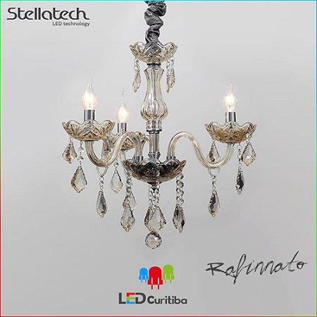 LUSTRE PENDENTE STELLA REFINNATO Translucido Stella SD9810-3 (52cm) -  3xE14 520x530x108 (mm)