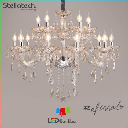 LUSTRE PENDENTE STELLA REFINNATO Translucido Stella SD9810-12 (73cm) -  12xE14 730x610x108 (mm)
