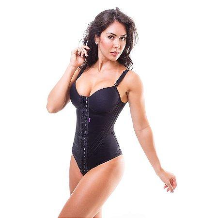 3dab2592f Cinta modeladora feminina BODY com bojo - Preto - Cinta modeladora ...