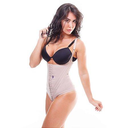 869d5110c Cinta modeladora feminina BODY com alça - Bege - Cinta modeladora ...