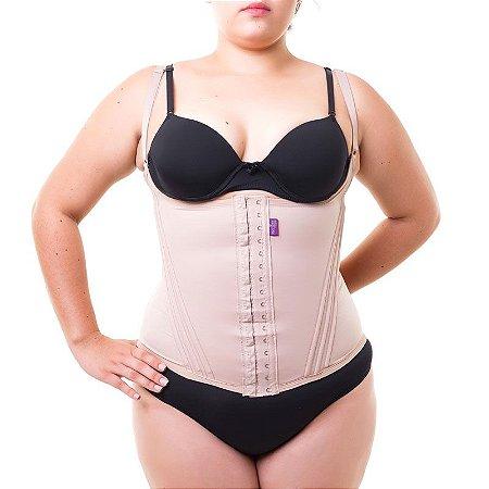 de9c66e05 Cinta modeladora feminina com alça - Bege - Plus Size - Cinta ...