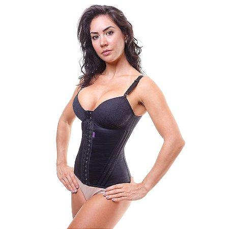 abadadac7 Cinta modeladora feminina bojo com renda - Preto - Cinta modeladora ...