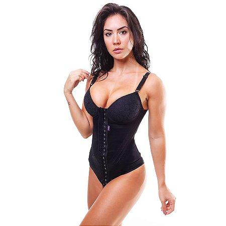 6409b26bc Cinta modeladora feminina body bojo com renda - Preto - Cinta ...