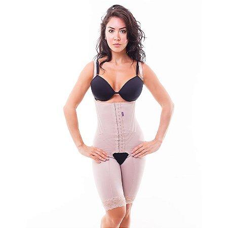1a41bba52 Cinta modeladora feminina macaquinho com alça - Bege - Cinta ...