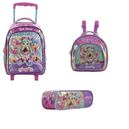 0cc565233 KIT Mochila Rodas16´+Lancheira+Estojo Shoppies Sweet Friends - Baby ...