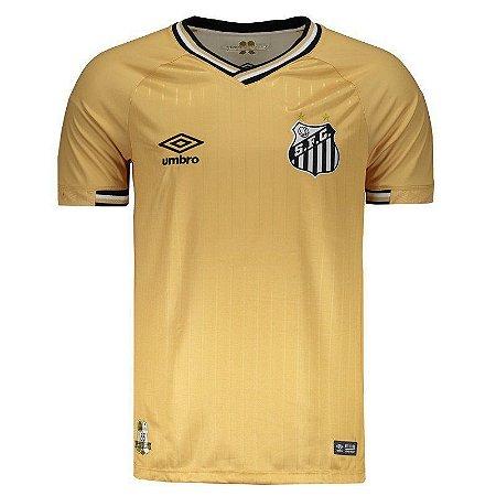 ece3f9dac8 Camisa Santos III 2018 s n° Torcedor Umbro Masculina Dourado - Almir ...