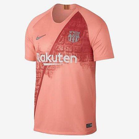 Camisa Barcelona Third 2018 s nº Torcedor Nike Masculina Salmão ... d76d2fb8ff76a