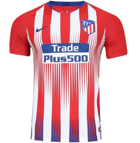1008a7d660 Camisa Atlético de Madrid Home 2018 s n°Torcedor Masculina Vermelho e Branco