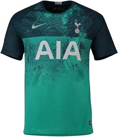 ae7d18a955 Camisa Tottenham Third 2018 s n° Torcedor Nike Masculina Verde ...