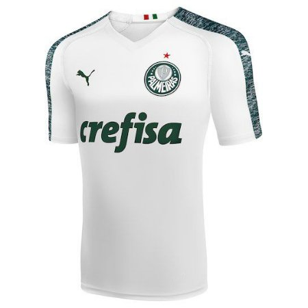 3b48b40eb2 Camisa Palmeiras II 19 20 s n° Torcedor Puma Masculina Branco ...