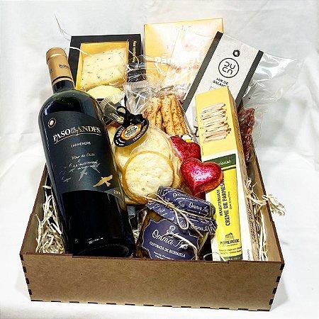 Box gourmet especial DIA DOS NAMORADOS vinho