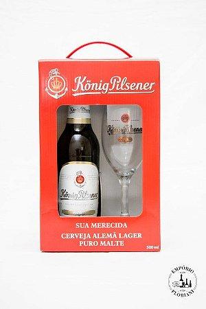 Kit cerveja alemã König Pilsner cerveja + copo