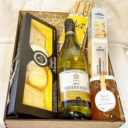 Box gourmet vinho branco e harmonizações