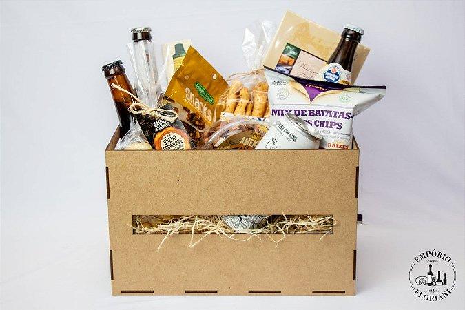 Cesta gourmet cerveja artesanal para ELE