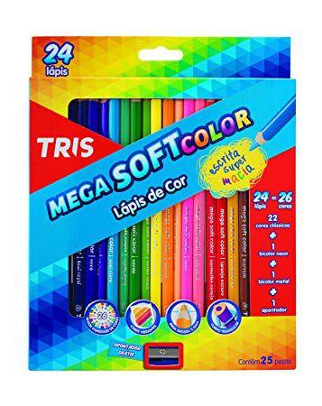 Lápis de Cor Mega Soft Color - TRIS