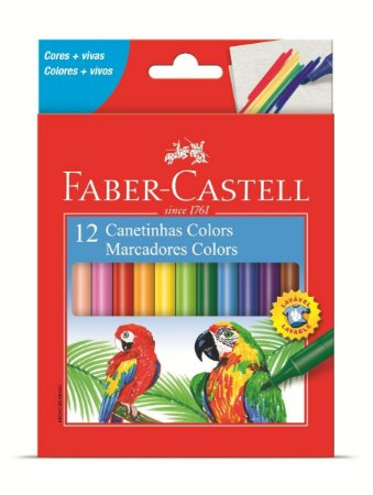 Canetinha 12 Cores Colors Faber-castell