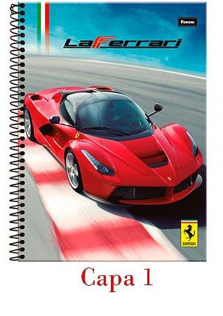 Caderno espiral capa dura universitário 10x1 - 200 folhas - Ferrari - Foroni