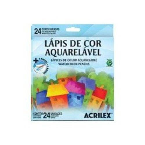 LÁPIS DE COR AQUARELÁVEL 24 CORES ACRILEX