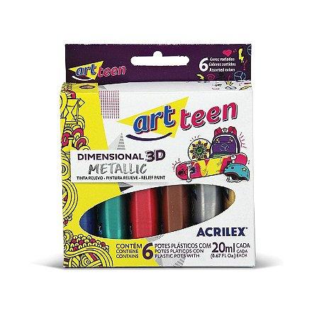 DIMENSIONAL RELEVO 3D METALLIC ARTTEEN