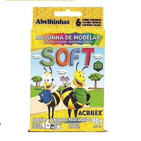 MASSINHA DE MODELAR SOFT 90G C/6 UNIDADES -- ACRILEX---