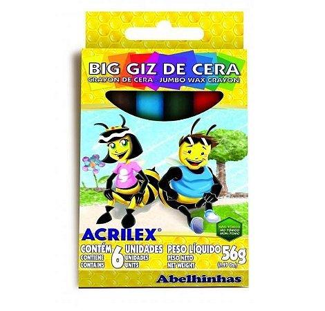 BIG GIZ DE CERA BIG 6 CORES ACRILEX