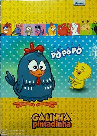 Caderno Brochura Galinha Pintadinha 96 Folhas Foroni