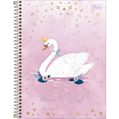 Caderno Cisne Royal Tilibra 80folhas pequeno