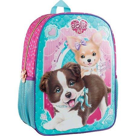 Mochila Escolar Jolie Pet Cachorro Tilibra 162582