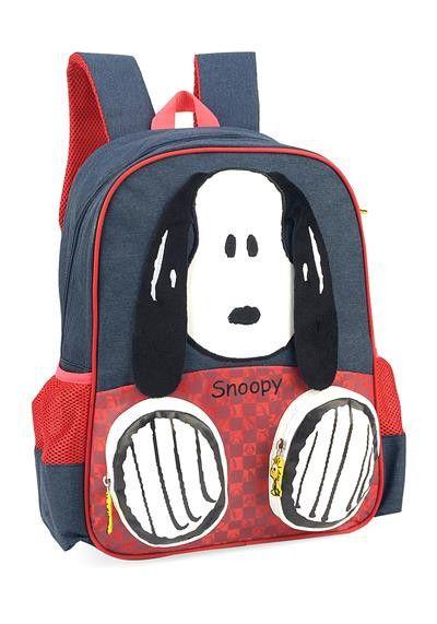 Mochila Escolar Snoopy Jeans