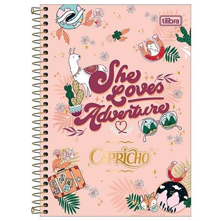 Caderno Colegial Capricho 10 Matérias 160 folhas Tilibra