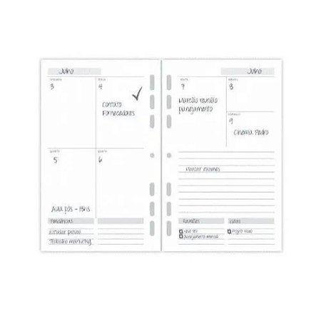 Refil Planner A5 Agenda Permanente Ótima Gráfica 4877-8