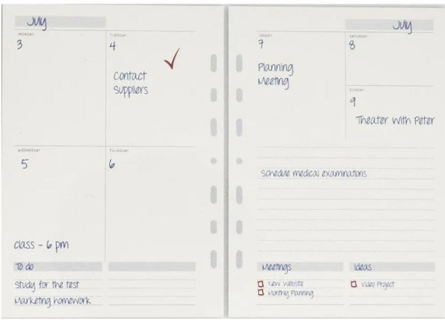 Refil Planner Permanente Ótima - ref 6025-1