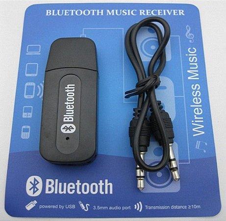 Receptor Bluetooth P2 Usb Adaptador Áudio Entrada Auxiliar do Carro YET-M1