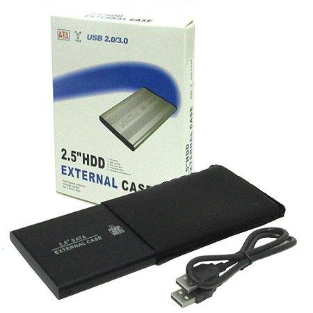 Case Gaveta Externa Hd Sata Notebook 2.5 Pc Xbox 360 T2 Slim