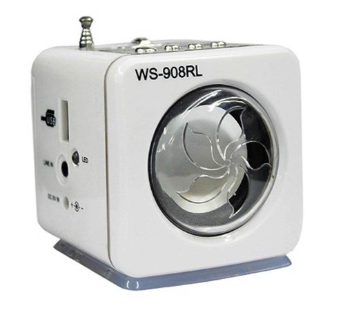 Caixa Caixinha De Som Ws-908 Portátil Rádio Fm Entrada Usb