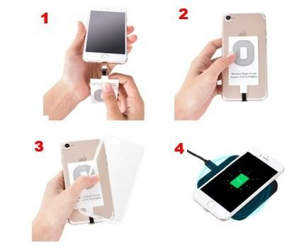Receptor Para Carregador Wireless Sem Fio Celular Qi Iphone