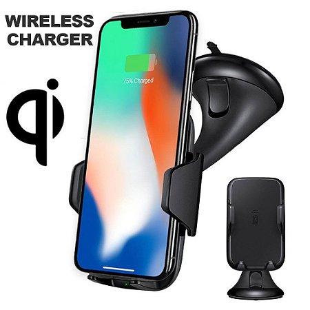 Suporte Veicular Com Carregador Sem Fio Gravity Wireless S8 S9 Iphone