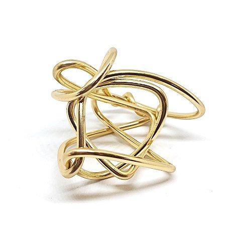 Anel Porta-guardanapo Dourado