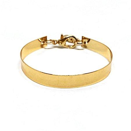 Bracelete Minimal Dourado Chapa