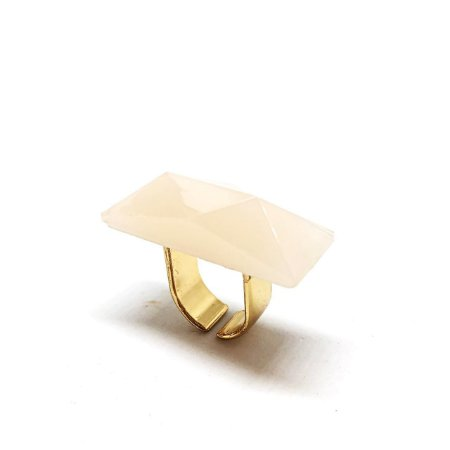 Anel Pedra Retangular