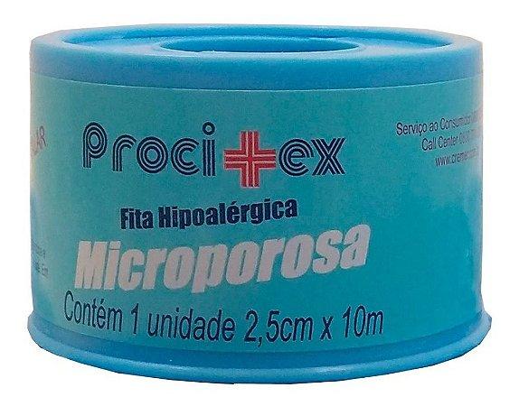 Fita Microporosa Procitex 2,5 Cm X 10 M Cremer 5 rolos