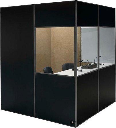 Cabine acústica para tradução simultânea  0,80 x 0,80 x 1,80  (L x C x A)